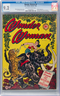Wonder Woman #9 (DC, 1944) CGC NM- 9.2 Off-white to white pages