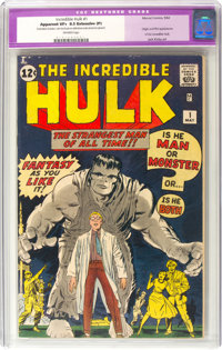 The Incredible Hulk #1 (Marvel, 1962) CGC Apparent VF+ 8.5 Extensive (P) Off-white pages