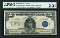 Canadian Currency, Canada Dominion of Canada $2 23.6.1923 DC-26i P...