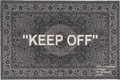 Furniture , Virgil Abloh X Ikea. Keep Off, 2019. Area Rug. 69 x 79 inches (175.3 x 200.7 cm). Produced by Ikea, Sweden. ...
