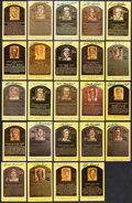 Autographs:Post Cards, Baseball Greats Hall of Fame Plaque Postcard Collection (74) - All Different!...