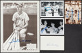 Autographs:Photos, Baseball Hall of Fame Signed Ephemera Lot of 5.... (Total: 6 items)