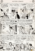 Original Comic Art:Panel Pages, Wayne Boring and Stan Kaye Action Comics #198 Story Page 12 Original Art (DC, 1954)....