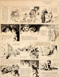 Original Comic Art:Comic Strip Art, Hal Foster Prince Valiant #10 Sunday Comic Strip Original Art dated 4-17-37 (King Features Syndicate, 1937)....