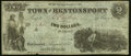 Obsoletes By State:Iowa, Bentonsport, IA- Town of Bentonsport $2 Aug. 1857 Fine-Very Fine.. ...