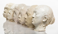 Zhang Dali (Chinese, b. 1963) New People (6 unique casts) Synthetic resin 9-1/2 inches (24.1 cm)