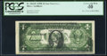 Error Notes:Offsets, Offset Fr. 1614* $1 1935E Star Silver Certificate. PCGS Extremely Fine 40.. ...