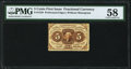 Fractional Currency:First Issue, Fr. 1229 5¢ First Issue PMG Choice About Unc 58.. ...