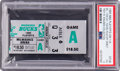 Basketball Collectibles:Others, 1985 Michael Jordan Playoff Debut Ticket Stub - PSA Pop 1 of 3!...