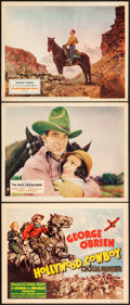 """Movie Posters:Western, Hollywood Cowboy & Other Lot (RKO, 1937). Very Fine. Title Lobby Card & Lobby Cards (2) (11"""" X 14""""). Western.. ... (Total: 3 Items)"""
