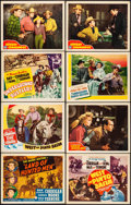"Movie Posters:Western, Land of Hunted Men & Other Lot (Monogram, 1943). Very Fine. Title Lobby Cards (5) & Lobby Cards (9) (11"" X 14""). Western.. ... (Total: 14 Items)"