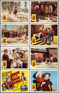 """Movie Posters:Western, North of the Great Divide (Republic, 1950). Very Fine/Near Mint.Lobby Card Set of 8 (11"""" X 14""""). Western.. ... (To..."""