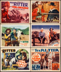 """Movie Posters:Western, Sing, Cowboy, Sing & Other Lot (Grand National, 1937). Very Fine. Title Lobby Cards (6) & Lobby Cards (5) (11"""" X 14""""). Weste... (Total: 11 Items)"""