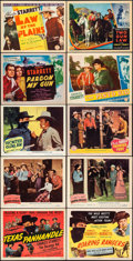 """Movie Posters:Western, Texas Panhandle & Other Lot (Columbia, 1945). Very Fine-. Title Lobby Cards (4) & Lobby Cards (6) (11"""" X 14""""). Western.. ... (Total: 10 Items)"""