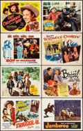 "Movie Posters:Western, Trigger, Jr. & Other Lot (Republic, 1950). Very Fine. TitleLobby Cards (6) & Lobby Cards (6) (11"" X 14""). Western."