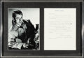 """Movie Posters:Miscellaneous, Alan Ladd Lot (c.1940s). Very Fine. Photo & Signed Letter inMatted Frame (17.75"""" X 12.25""""). Miscellaneous.. ..."""