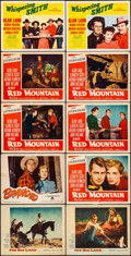Movie Posters:Western, The Big Land & Other Lot (Warner Brothers, 1957). Overall:Fine/Very Fine. Lobby Cards (11) & British Lobby Card Set of 8(1... (Total: 19 Items)