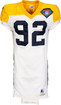 Football Collectibles:Uniforms, 1994 Reggie White Game Worn Green Bay Packers Throwback Jersey - Worn Halloween Night vs. Bears (Reggie White Collection & Guy...