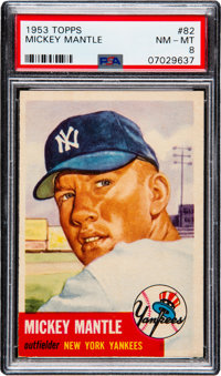 1953 Topps Mickey Mantle #82 PSA NM-MT 8