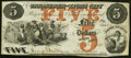 Obsoletes By State:Iowa, Lyons City, IA- Treasurer of Lyons City $5 Nov. 4, 1858 ExtremelyFine-About Uncirculated.. ...