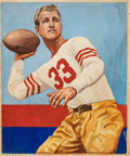 Football Cards:Singles (Pre-1950), 1935 National Chicle Bernie Masterson #36 Original Artwork....