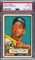 Baseball Cards:Singles (1950-1959), 1952 Topps Mickey Mantle #311 PSA VG-EX 4....