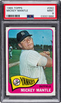 Baseball Cards:Singles (1960-1969), 1965 Topps Mickey Mantle #350 PSA Mint 9 - None Higher....