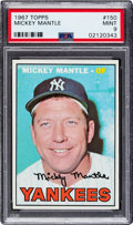 Baseball Cards:Singles (1960-1969), 1967 Topps Mickey Mantle #150 PSA Mint 9 - Only Two Higher....