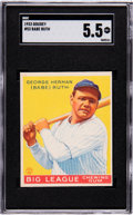 Baseball Cards:Singles (1930-1939), 1933 Goudey Babe Ruth #53 SGC EX+ 5.5. The first o...