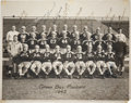 Football Collectibles:Photos, 1943 Green Bay Packers Team Signed Original Oversized Photograph - With Lambeau! ...