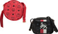Luxury Accessories:Bags, MCM Set of Two: Black & Red Mini Crossbody Bags. Condition: 2. See Extended Condition Report for Sizes.... ... (Total: 2 )