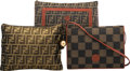 Luxury Accessories:Bags, Fendi Set of Three: Monogram Pochettes & Clutch. Condition: 2. See Extended Condition Report for Sizes.... ... (Total: 3 )