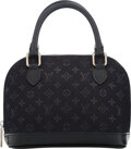 "Luxury Accessories:Bags, Louis Vuitton Black Monogram Satin Mini Alma Bag. Condition: 1. 6"" Width x 5"" Height x 3"" Depth. ..."