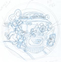 Animation Art:Production Drawing, Disneyland Toontown Commemorative Coin Art (Walt Disney, 1993).....