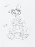 Animation Art:Production Drawing, Mickey Mouse 65th Birthday Art Group of 3 (Walt Disney, c. 1990s).....