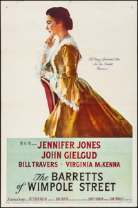 "The Barretts of Wimpole Street (MGM, 1957). Folded, Very Fine-. One Sheet (27"" X 41""). Romance"
