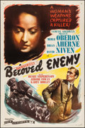 "Movie Posters:Drama, Beloved Enemy (Film Classics, R-1944). Folded, Very Fine-. One Sheet (27"" X 41""). Drama.. ..."