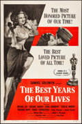 "Movie Posters:Drama, The Best Years of Our Lives (RKO, R-1954). Folded, Very Fine-. OneSheet (27"" X 41""). Drama.. ..."