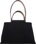 "Luxury Accessories:Bags, Hermès Black Toile Cabag Elan Tote Bag. Condition: 2. L Square, 2008. 15"" Width x 9"" Height x 5"" Depth. ..."