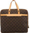 "Luxury Accessories:Bags, Louis Vuitton Brown Monogram Coated Canvas Porte-Documents Pegase Bag. Condition: 2. 15"" Width x 13"" Height x 3"" Depth..."