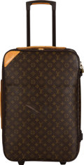 "Luxury Accessories:Travel/Trunks, Louis Vuitton Brown Monogram Coated Canvas Pegase 55 Suitcase. Condition: 4. 14.5"" Width x 21"" Height x 7"" Depth. ..."