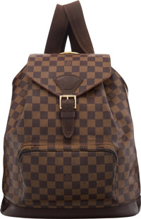 "Louis Vuitton Damier Ebene Coated Canvas Montsouris Backpack Condition: 3 12"" Width x 14"" Height x 5.5"" D..."