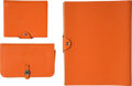 Luxury Accessories:Accessories, Hermès Set of Three: Orange H Togo Leather Dogon Wallet & Notebooks. Condition: 3. See Extended Condition Report for S... (Total: 3 )