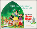 "Movie Posters:Animation, Snow White and the Seven Dwarfs (Buena Vista, R-1975). Very Fine+.Title Lobby Card (11"" X 14""). Animation.. ..."