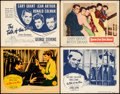"Movie Posters:Comedy, The Talk of the Town & Other Lot (Columbia, 1942/R-1949). Fine/Very Fine. Lobby Cards (3) & Title Lobby Card (11"" X 14""). Co... (Total: 4 Items)"