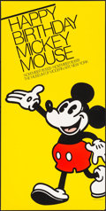 "Movie Posters:Animation, Happy Birthday Mickey Mouse (Museum of Modern Art, 1978). Rolled, Very Fine-. Silk Screen Exhibition Poster (17.25"" X 34""). ..."