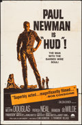 "Movie Posters:Drama, Hud (Paramount, 1963). Folded, Fine/Very Fine. One Sheet (27"" X41""). Drama.. ..."