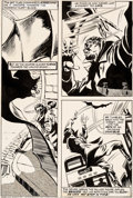 Original Comic Art:Panel Pages, Gene Colan and Tom Palmer Tomb of Dracula #24 Story Page 12 Blade Original Art (Marvel, 1974)....
