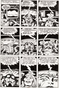 Original Comic Art:Panel Pages, Jack Kirby and Mike Thibodeaux Captain Victory and the GalacticRangers #8 Story Page 8 Original Art (Pacific, 198...