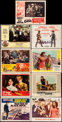 On the Beach & Other Lot (United Artists, 1959). Very Fine-. Autographed Lobby Card, Lobby Card (5), Title Lobby Car...
